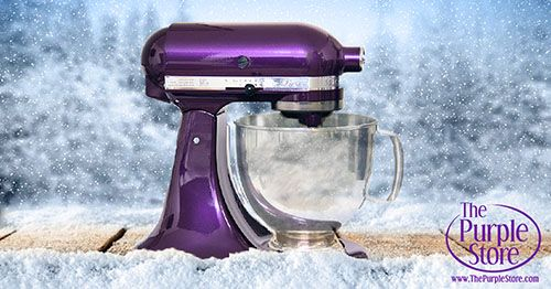 Artisan Design 5-Quart KitchenAid Stand Mixer with Glass Bowl - Plumberry