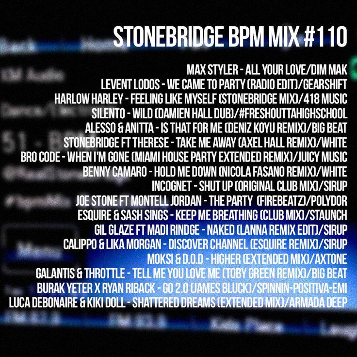 StoneBridge BPM Mix #110 is up https://www.mixcloud.com/stonebridge/110-stonebridge-bpm-mix - check it out! #stonebridge #stonebridgeshow #bpmmix #house