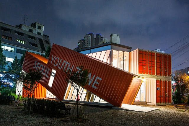 Seoul Youth Zone Shipping Container Building South Korea