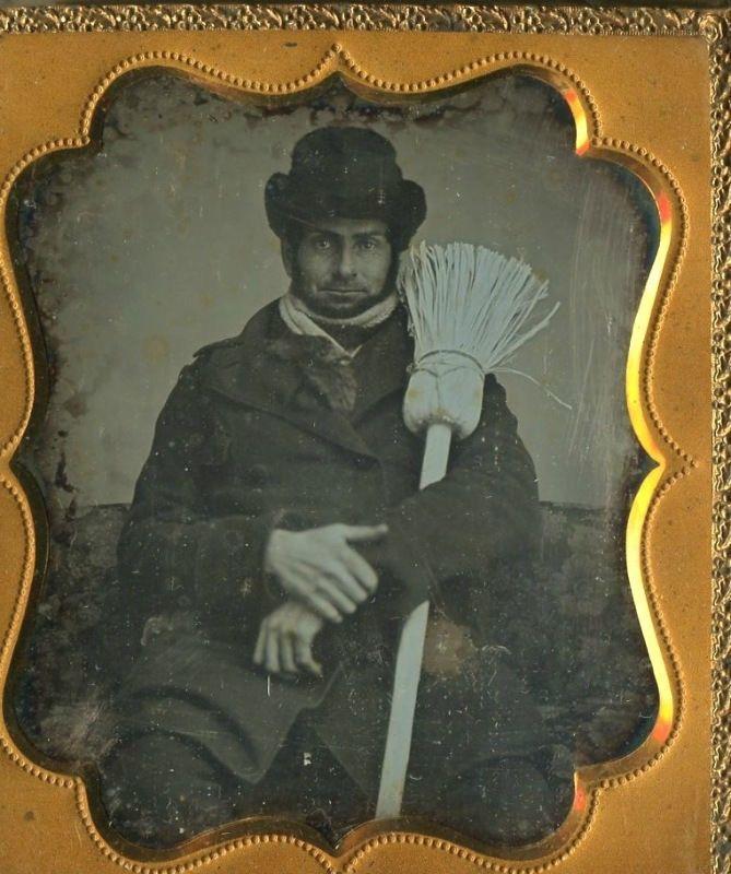 Antique 1 6 Plate Occupational Daguerreotype Photo Broom Maker or Sweeper | eBay