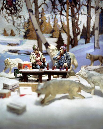 Early Snow with Bob and Doug, photograph