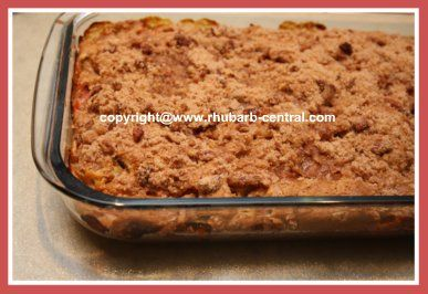 This (see pictures) RHUBARB COFFEE CAKE RECIPE is the best, amazing, moist rhubarb cake recipe, and includes sour cream!