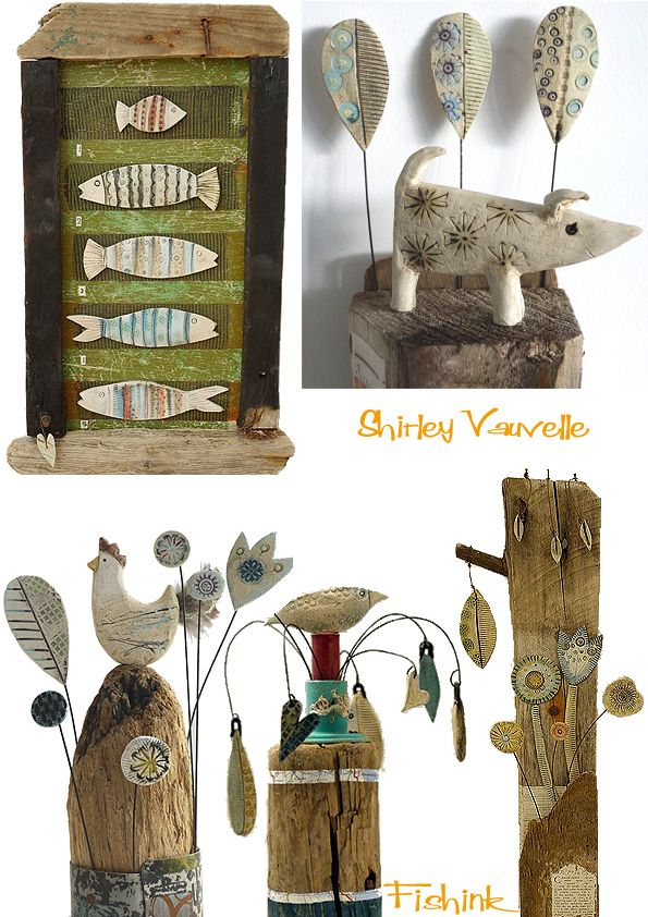 Fishinkblog: Fishinkblog 3720, Shirley Vauvelle, Fishinkblog Blog, Driftwood Art, Driftwood Creations, 3720 Shirley, Projects Ideas, Quirky Sculpture, Sculpture Céramique