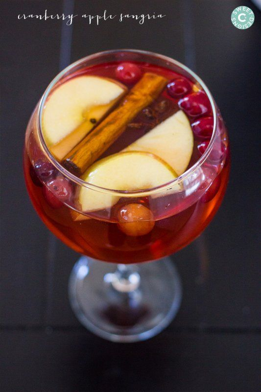 Cranberry Apple Christmas Sangria and Virgin Sangria is a quick, easy and delicious festive drink that is perfect for parties!