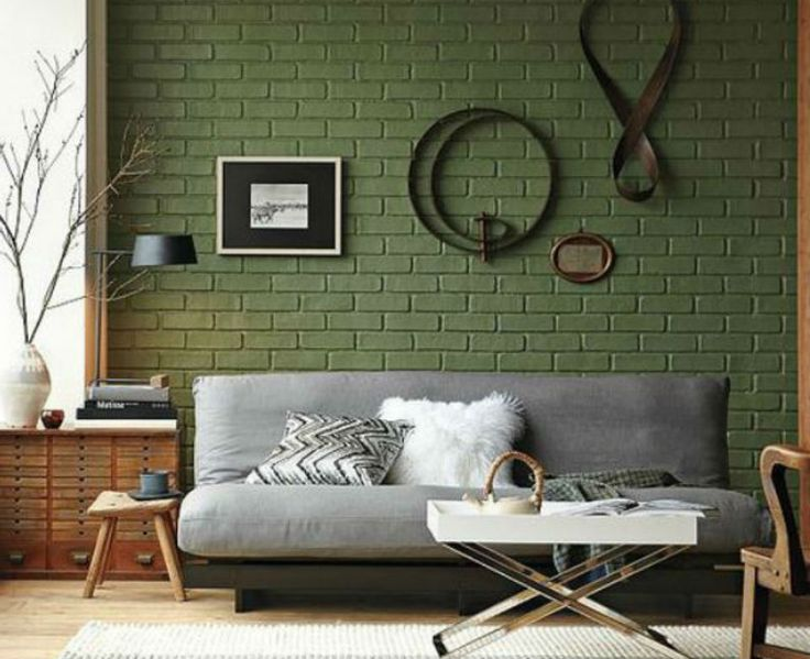 Ένας τοίχος από τούβλα Για όλους τους χώρους του σπιτιού.