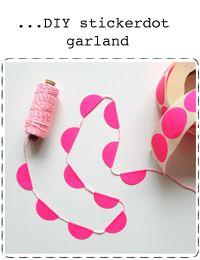 o-k-e-r: diy   sticker dot   garland