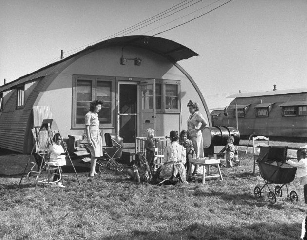 City veterans housing project, Canarsie, Brooklyn, 1946.  Hipsterless Brooklyn: Vintage Photos From a Vanished World   LIFE.com