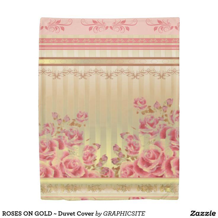 ROSES ON GOLD ~ Duvet Cover
