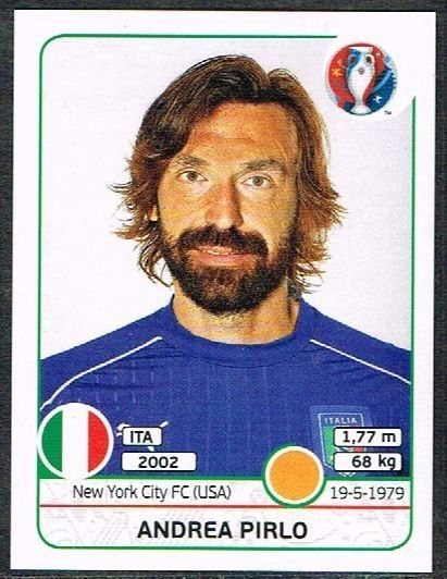 UEFA EURO 2016 Andrea Pirlo Italy - 505 #Panini #stickers #Italy #Pirlo