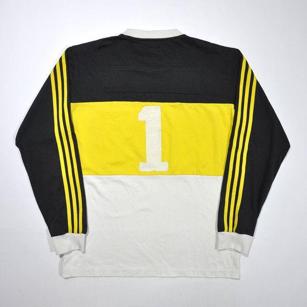 9a2490857bfc7 Vintage 90s ADIDAS TEAM Jersey Adidas Long Sleeve Adidas Yellow ...