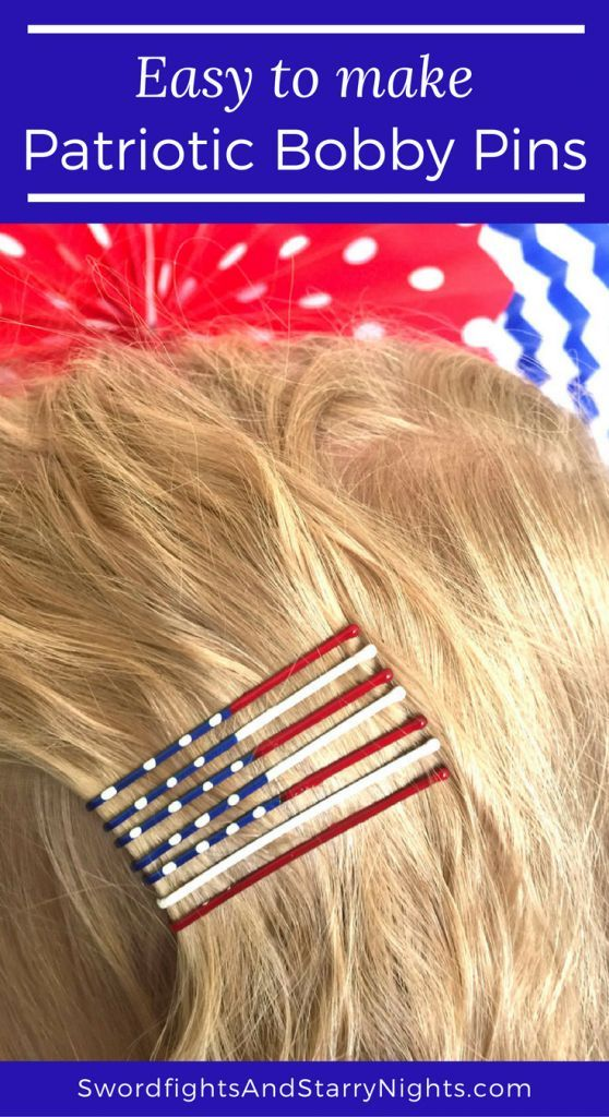 Patriotic Bobby Pins are fun and easy way to show your colors!