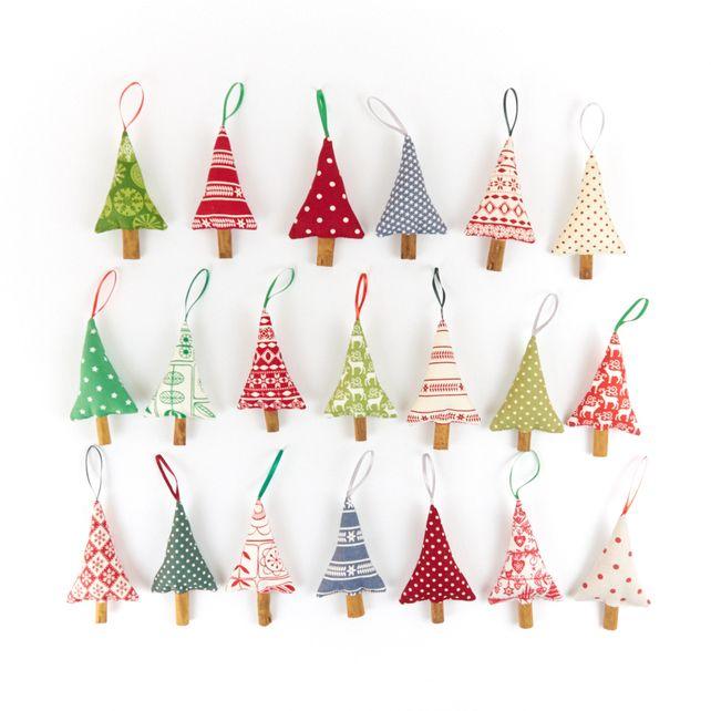 Christmas Decorations, Scandinavian Christmas trees by Beledien Handmade.