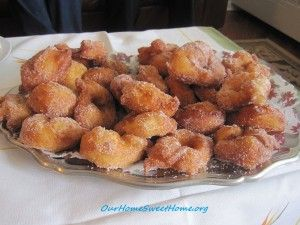 Grandma's Sugar and Cinnamon Donuts. What could be better? From Our Home Sweet Home.