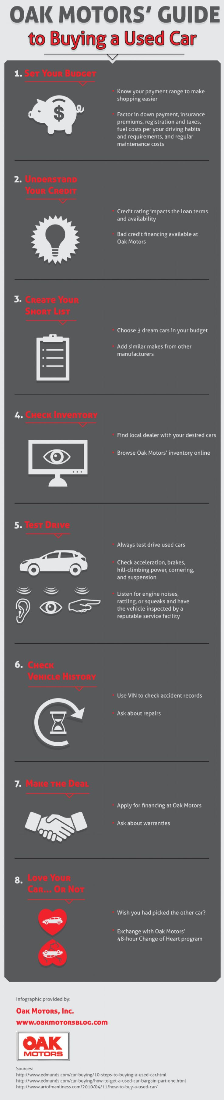 Next add similar makes from other manufacturers to find the best option get more tips on this infographic from an anderson used car dealership