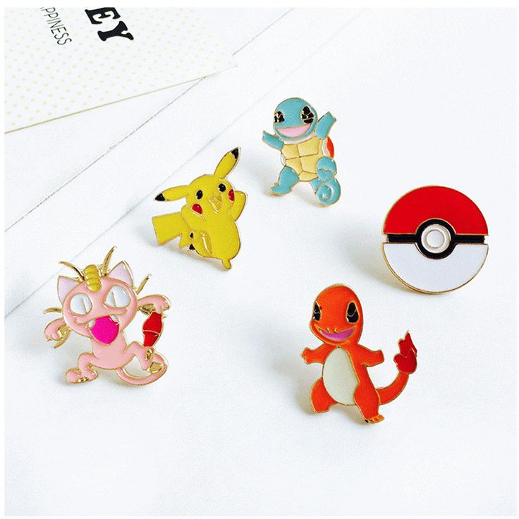 Alloy Enamel Yellow Pokemon Pins