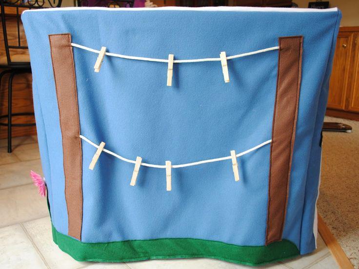 card table play house - I love the clothes line idea