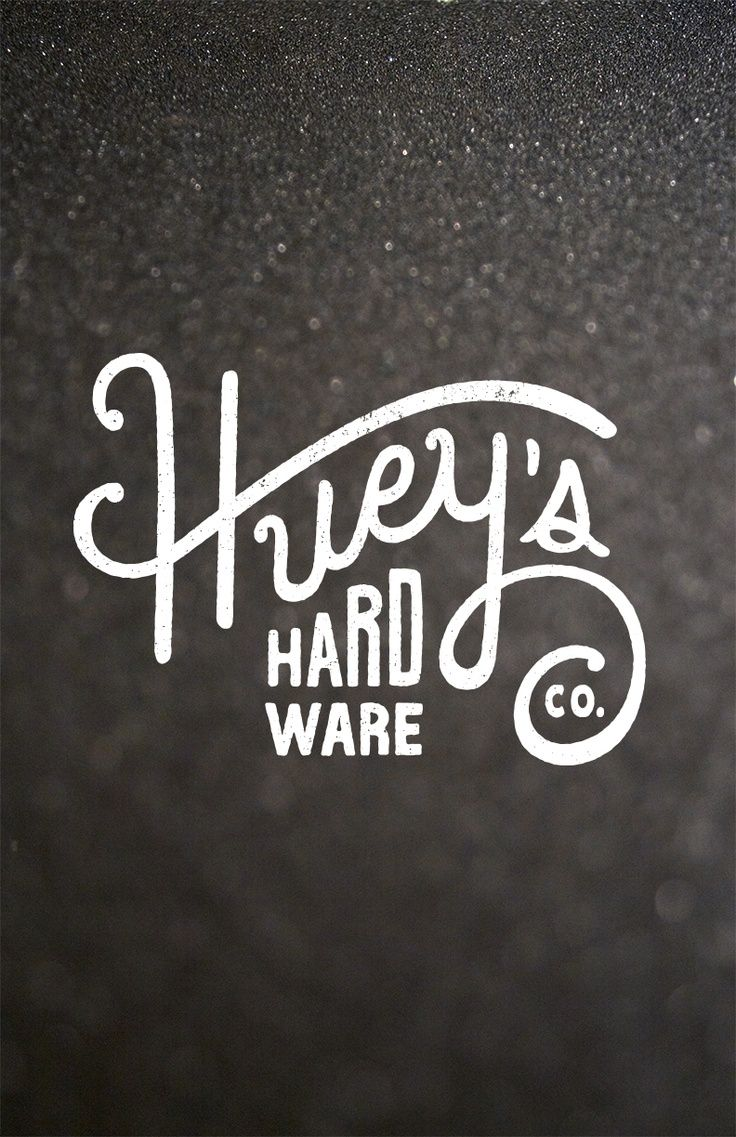 """I like this typography logo because whenever I think of a hard ware store I like to think of an old fashioned one, and this logo does a good job of representing that. It gives it an old-timey """"mom and pop"""" feel, and the letters flow in a way that makes it so """"Huey's"""" could be separated from """"hard ware,"""" or kept together."""