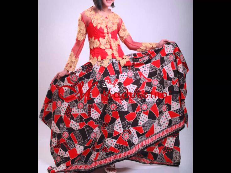 Kebaya Modern, Dress Batik Brocade, Maduretno Nusantara