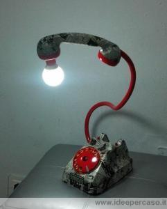 lampada telefono fumetto diabolik