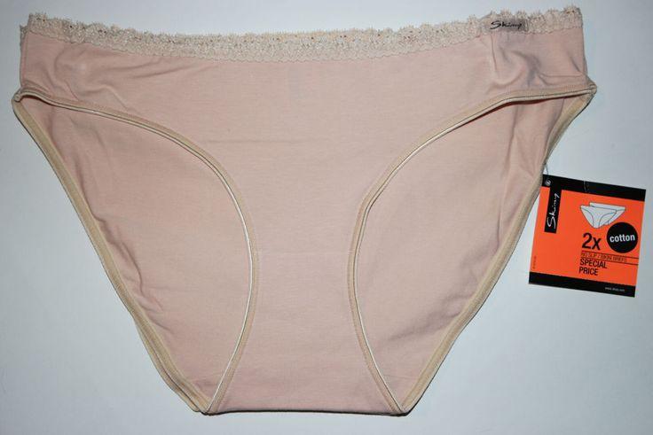 Skiny Damen Panty Doppelpack Unterwäsche Pant Slip weiche Gr. 40 skin NEU