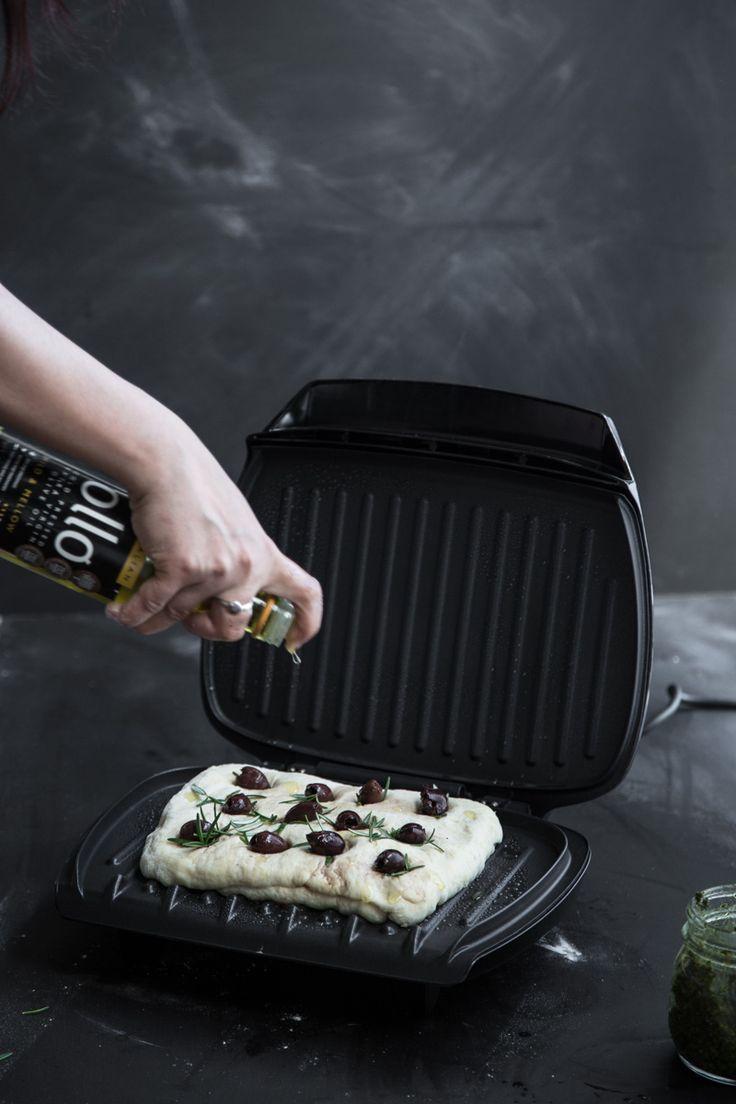 Herb Pesto Stuffed Grilled Flatbread | Cook Republic