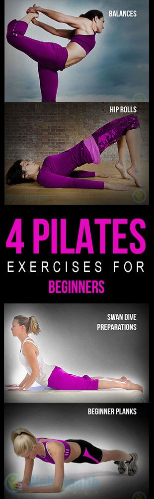 4 #Pilates exercises for beginners.