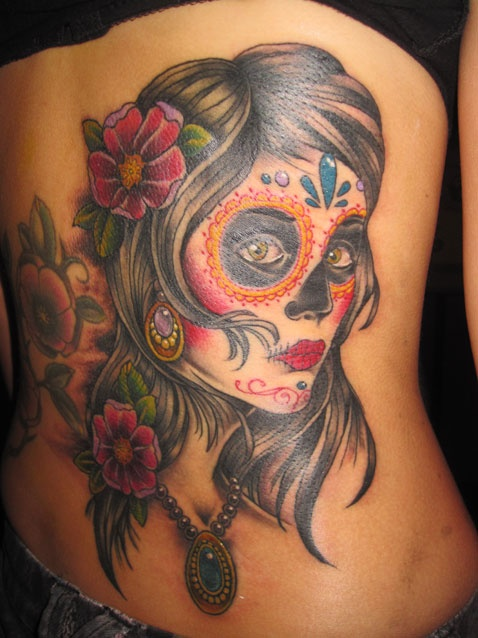 85 besten sugar skull girl tattoo day of the dead bilder auf pinterest la catrina. Black Bedroom Furniture Sets. Home Design Ideas