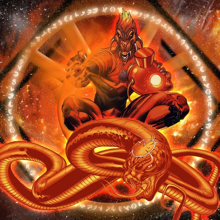 Orange Lantern Ophidian by dankalel23 on DeviantArt