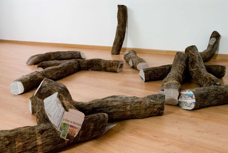 """""""Fragments of Time"""" for #WoodLovers: #Tree trunks made of fallen branches by Miler Lagos"""