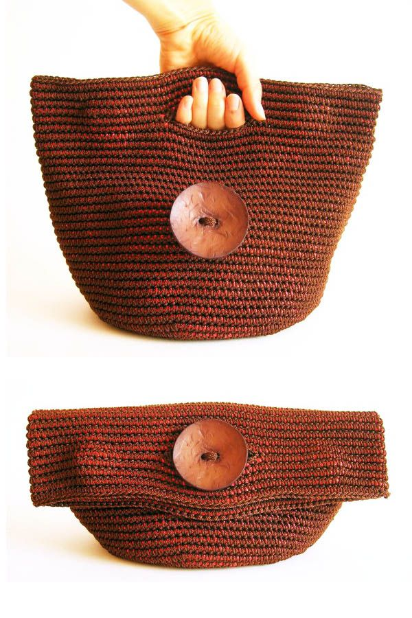 Tapestry crochet bag/clutch - one bag, two purposes - ChabeGS pattern