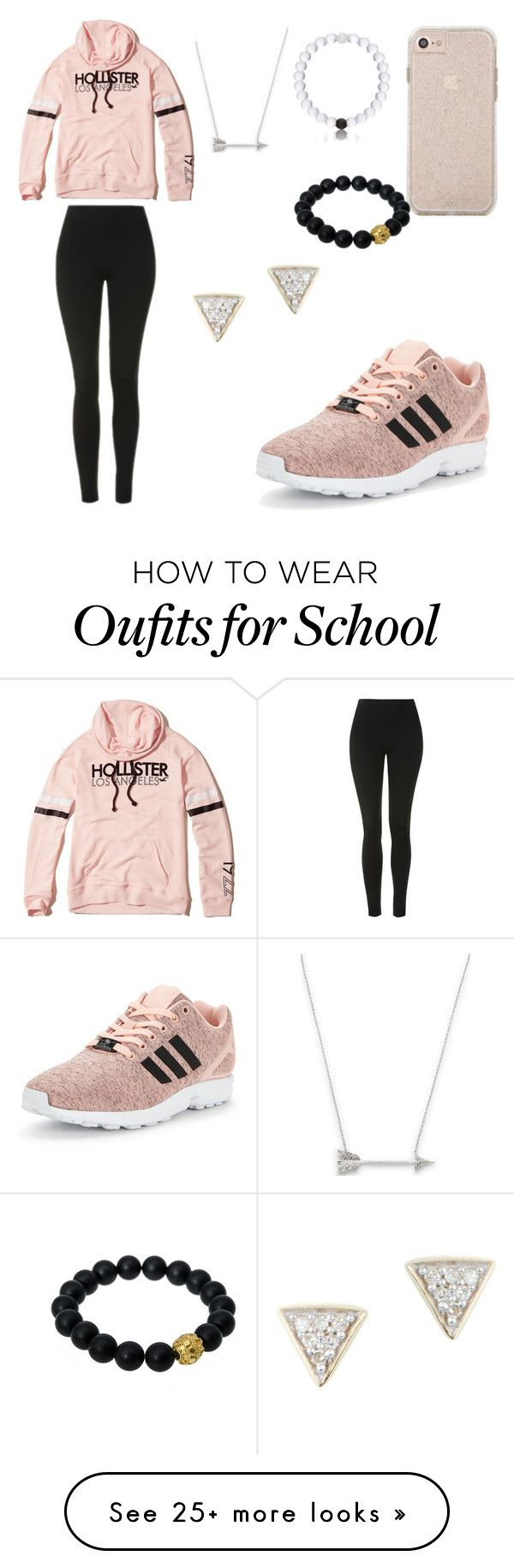 """HIGH SCHOOL STYLE"" by mgarcia-iii on Polyvore featuring Estella Bartlett, Berluti, Adina Reyter, adidas Originals, Hollister Co. and Topshop"