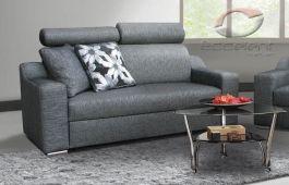 Sofa BOSS to mebel w którym delikatna, lekka forma łączy się z wyjątkowym komfortem użytkowania. Zagłówki z 4 stopniowym poziomem regulacji podkreślają nowoczesny charakter bryły. Duże, miękkie poduchy dekoracyjne sprawdzają się w roli dodatkowego podparcia. Niezwykle oryginalne nóżki z chromowanego metalu w formie walca dodają finezji i smaku