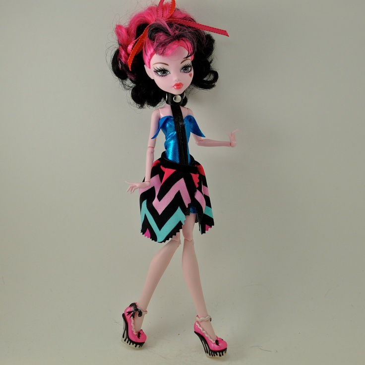 Draculaura Collared - Monster High Dress. $15.00, via Etsy.