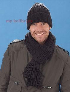 Вяжем шапку спицами дорогому мужчине – модель для начинающих! Бесплатное описание на Колибри!