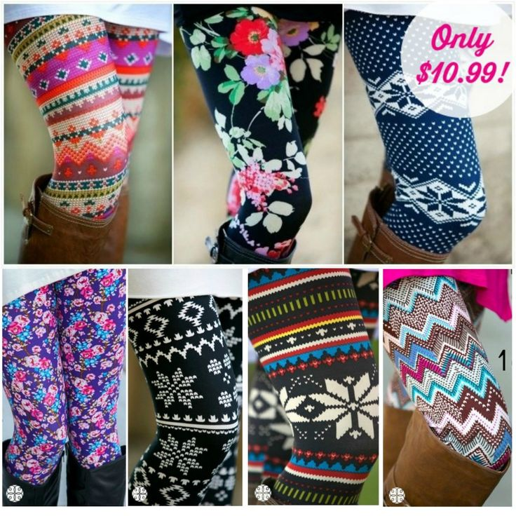 I am in LOVE with the fun patterned legging trend going on!
