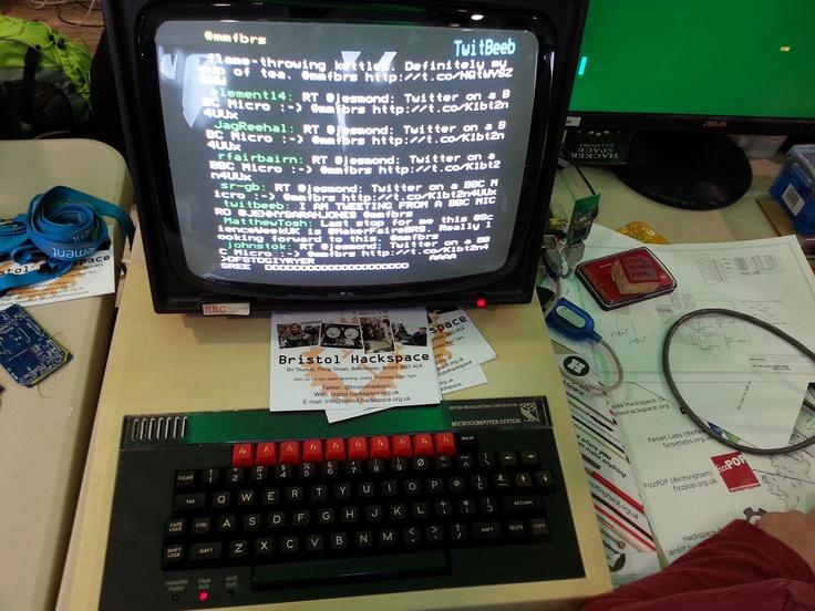 A BBC Micro that Tweets! #twitter #computing #vintage