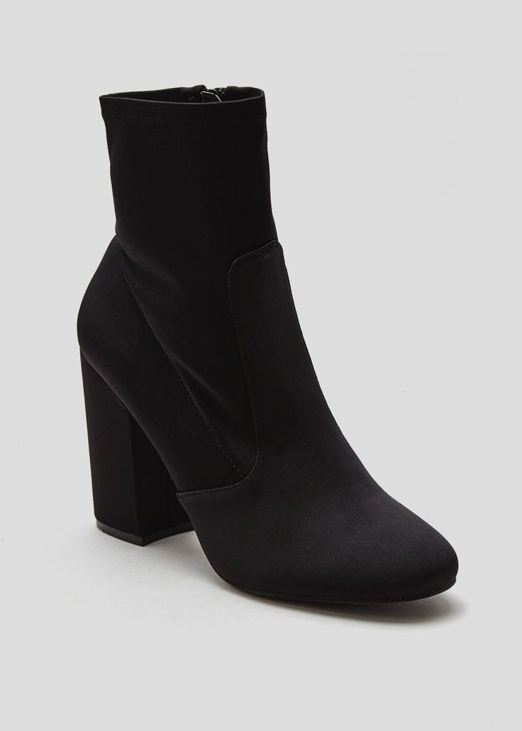 Satin Sock Boots – Matalan