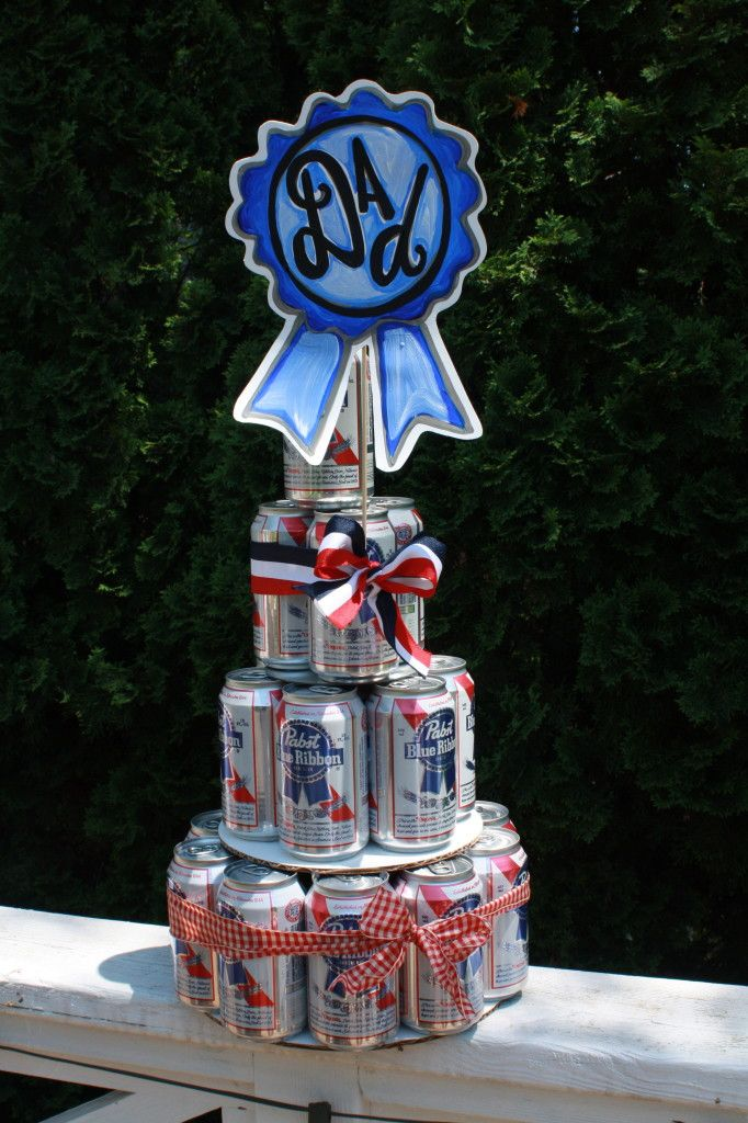 Beer Can tiered cake. Fun! Tutorial shows you how.