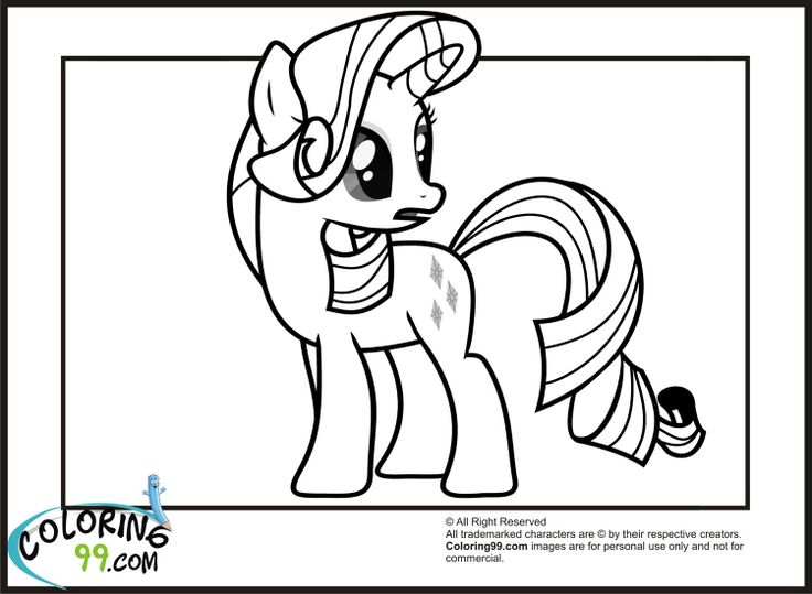 Princess Rarity Coloring Pages : Rarity my little pony coloring pages pinterest