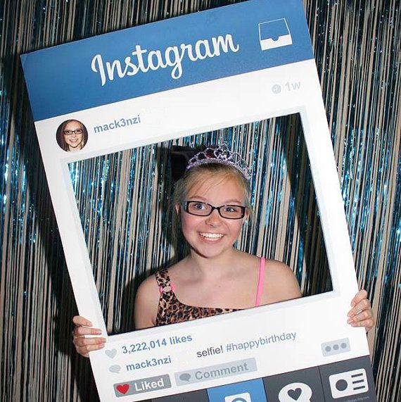 instagram photo prop   birthday wedding corporate event