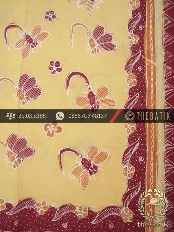 Kain Batik Tulis Kumpeni Cirebon Motif Capung Kuning Pastel   #Indonesia Traditional #Batik Tulis #Design. Hand-dyed and HandDrawn Process http://thebatik.co.id/kain-batik-bahan/batik-tulis/