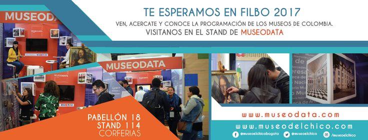 Te esperamos en #FILBO 2017 Conoce la programación de los museos de Colombia, visitanos en el Stand de Museodata Pabellón 18 Stand 114. #Colombia #Museos #Feriadellibro #arte #Bogotá #museodatafilbo #museum #museos #FILBo2017 #cultural #corferias  Visita nuestro nuevo sitio web: http://www.museodelchico.com/ síguenos en Facebook: https://www.facebook.com/museoelchicobogota/ síguenos en Instragram: https://www.instagram.com/museoelchico/ síguenos en Twitter: https://twitter.com/museoelchico
