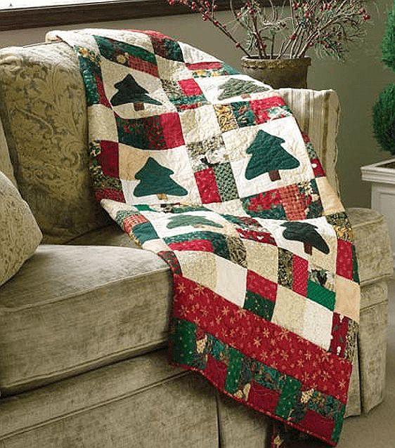 Nine-Patch Christmas Scrap Quilt