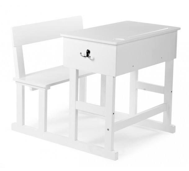 Childhome Børneskrivebord - Skolepult i hvid