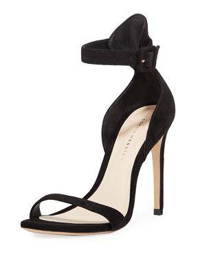 9c30aaf3db7 Sophia Webster Nicole Naked High-Heel Suede Ankle-Wrap Sandals