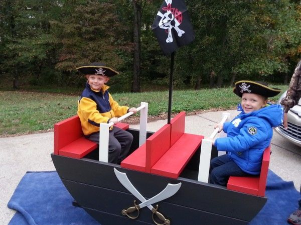 pirate ship teeter totter