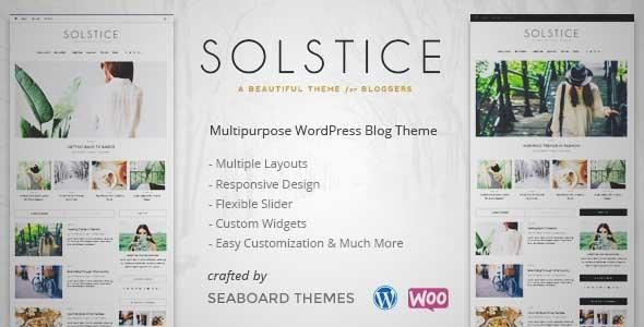 Download and review of Solstice - Multipurpose Personal WordPress Blog, Shop, and Magazine Theme, one of the best Themeforest Magazine & Blogs themes