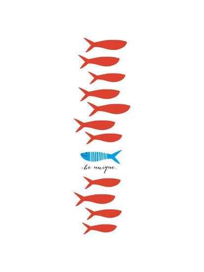 Unique Fishy by Oscar & Emma for Minted
