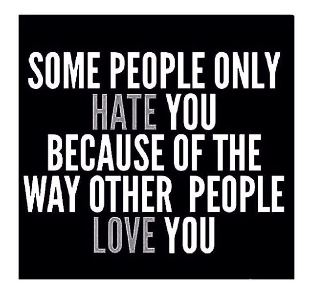 Soooooo so true!!!! It's jealousy.... I've known that since the beginning. How you can hate someone that takes care and loves your child, I'll never know. Oh wait, I do know! It's because my husband married and loves me and not her.