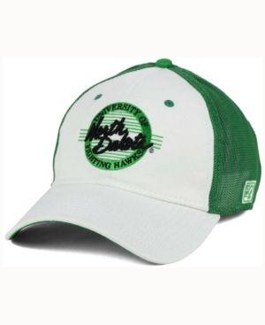 Game North Dakota Fighting Hawks Circle Stretch Cap - White/Green OSFM